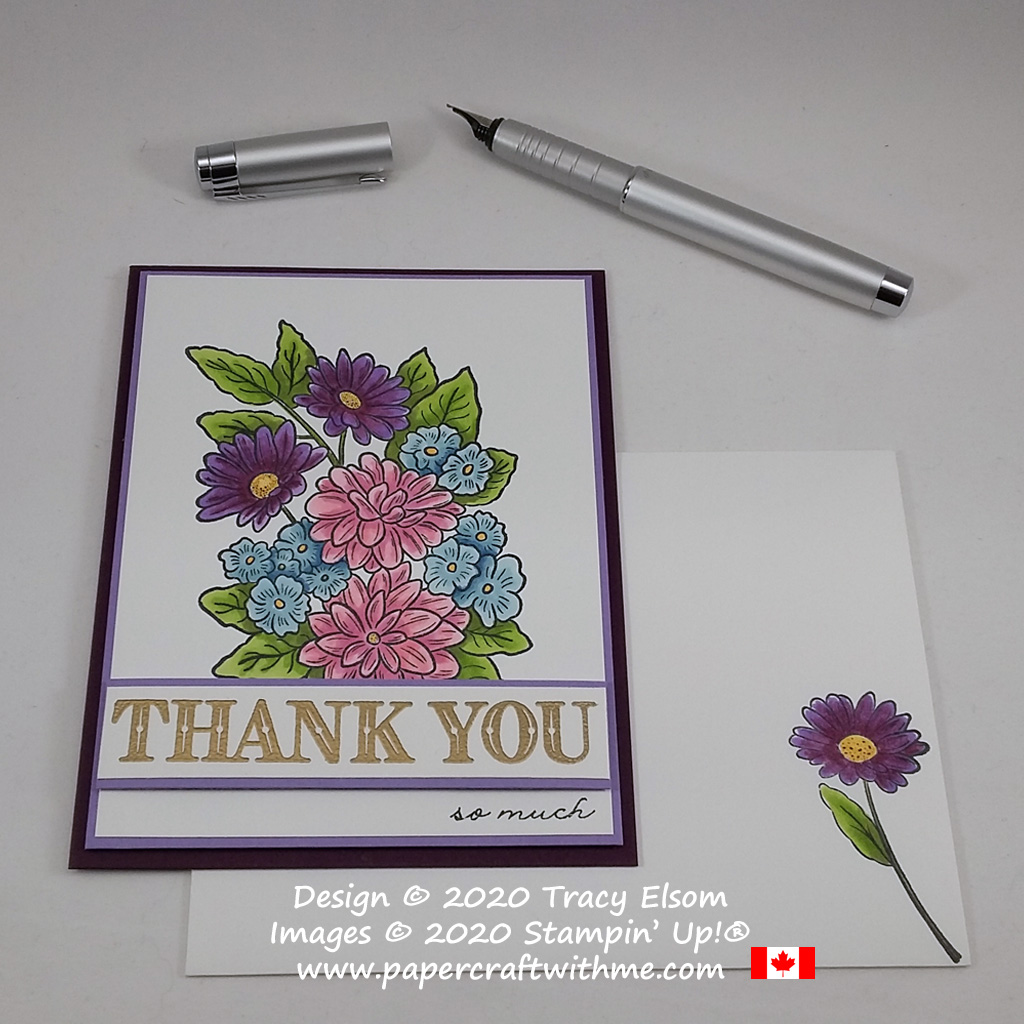 """Thank you so much"" card created using the Ornate Style and Ornate Thanks Stamp Set from Stampin' Up! #papercraftwithme"