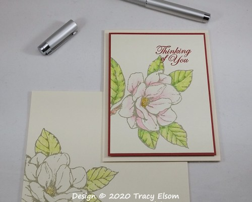 1951 Pencil Magnolia Thinking of You Card