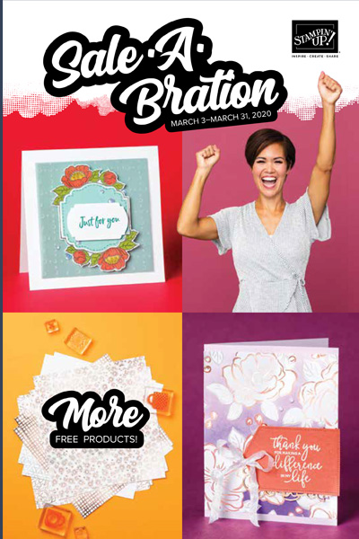 The best Stampin' Up! promotion of the year has just got better with new free items added.  Between January 3rd and March 31st choose a free item for every $60 CAD spent.