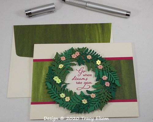 1953 Spring Wreath Card