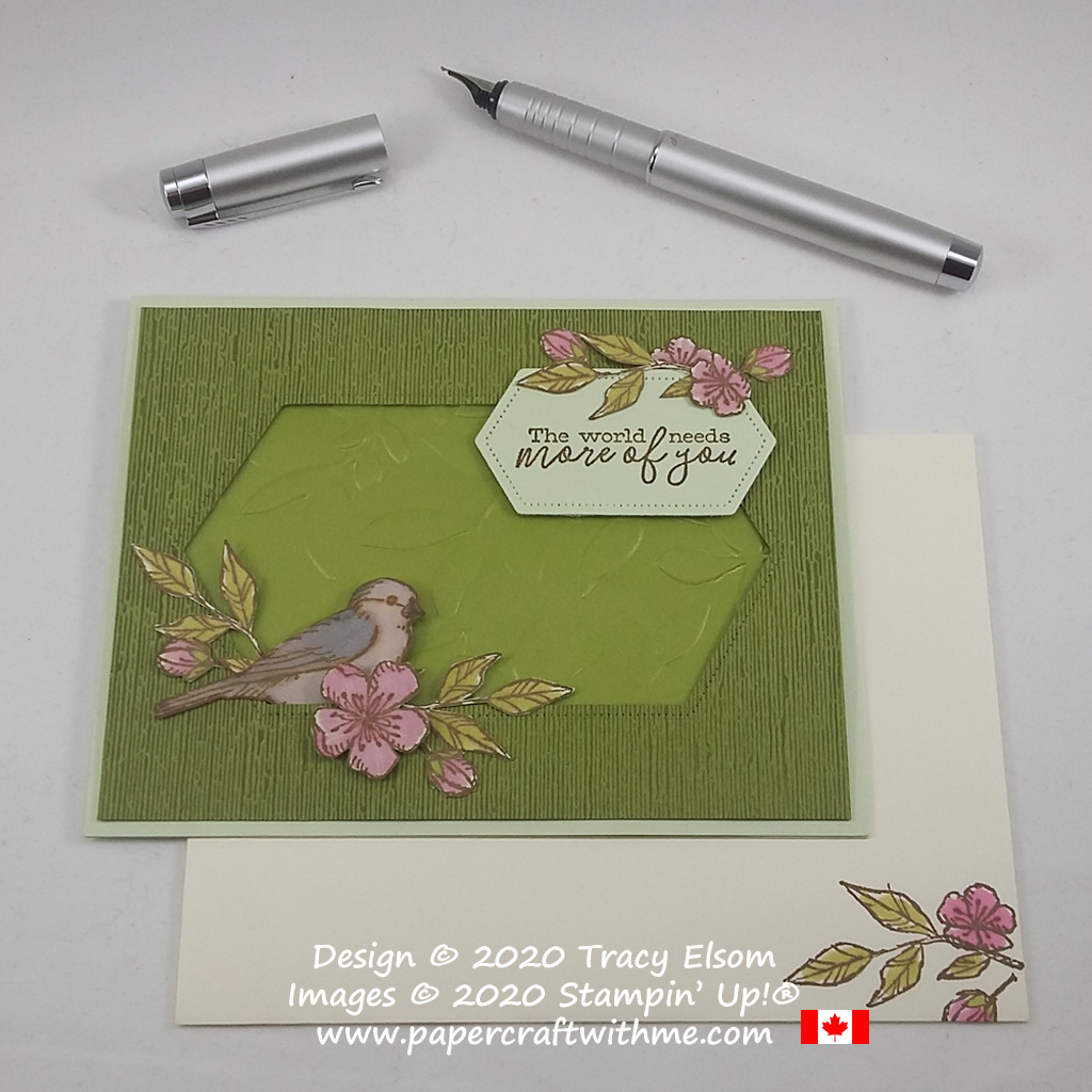 """""""The world needs more of you"""" card created using the Free As A Bird Stamp Set and Stampin' Blends alcohol markers from Stampin' Up! #papercraftwithme"""