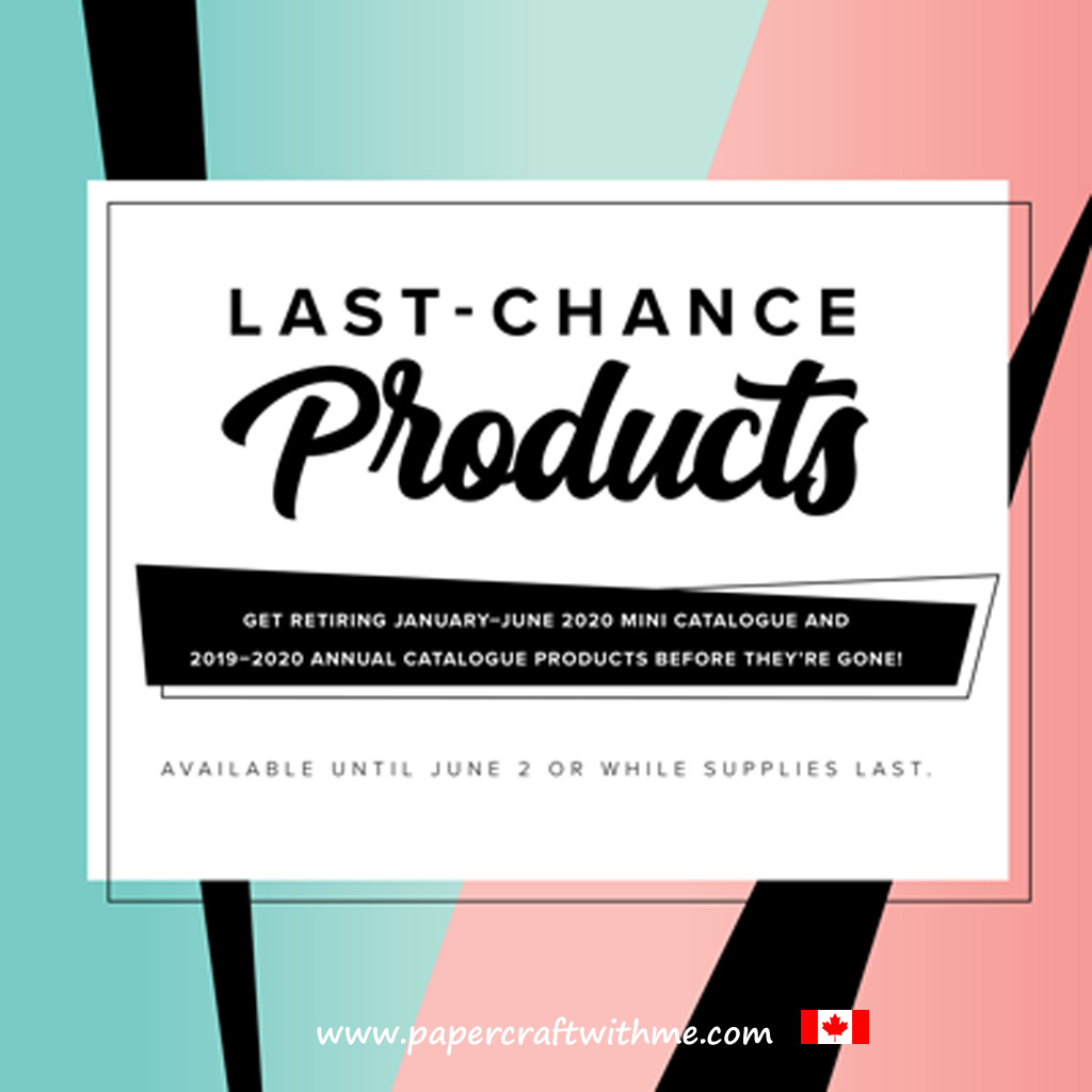 Don't miss your last chance to get retiring products from Stampin' Up! #papercraftwithme