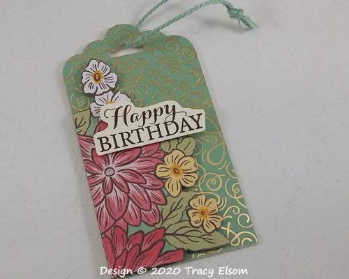 Ornate Garden Birthday Tag