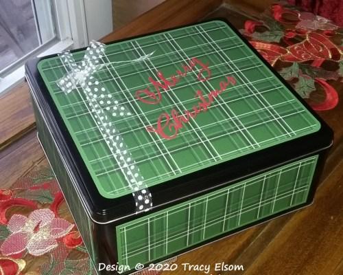 P108 Merry Christmas Storage Tin