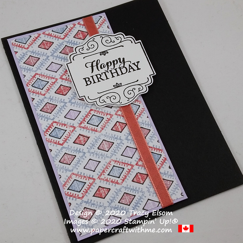 Masculine birthday card using altered paper and the Layered With Kindness Stamp Set from Stampin' Up! #papercraftwithme