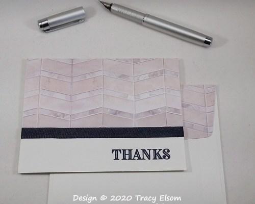1976 Tiled Thanks Card