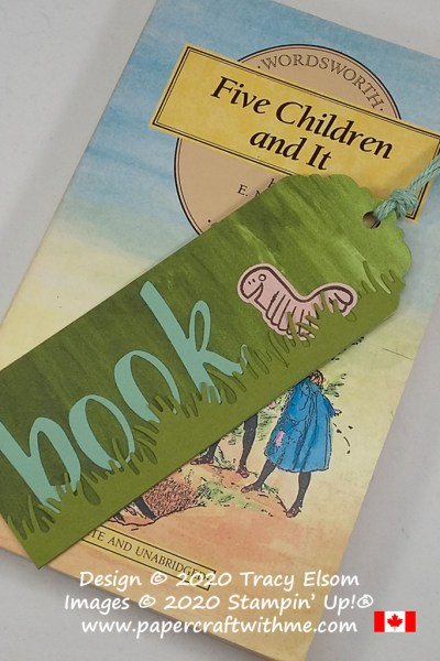 Bookworm bookmark created using the Wiggle Worm Stamp Set and Wiggly Bugs Dies from Stampin' Up! #papercraftwithme