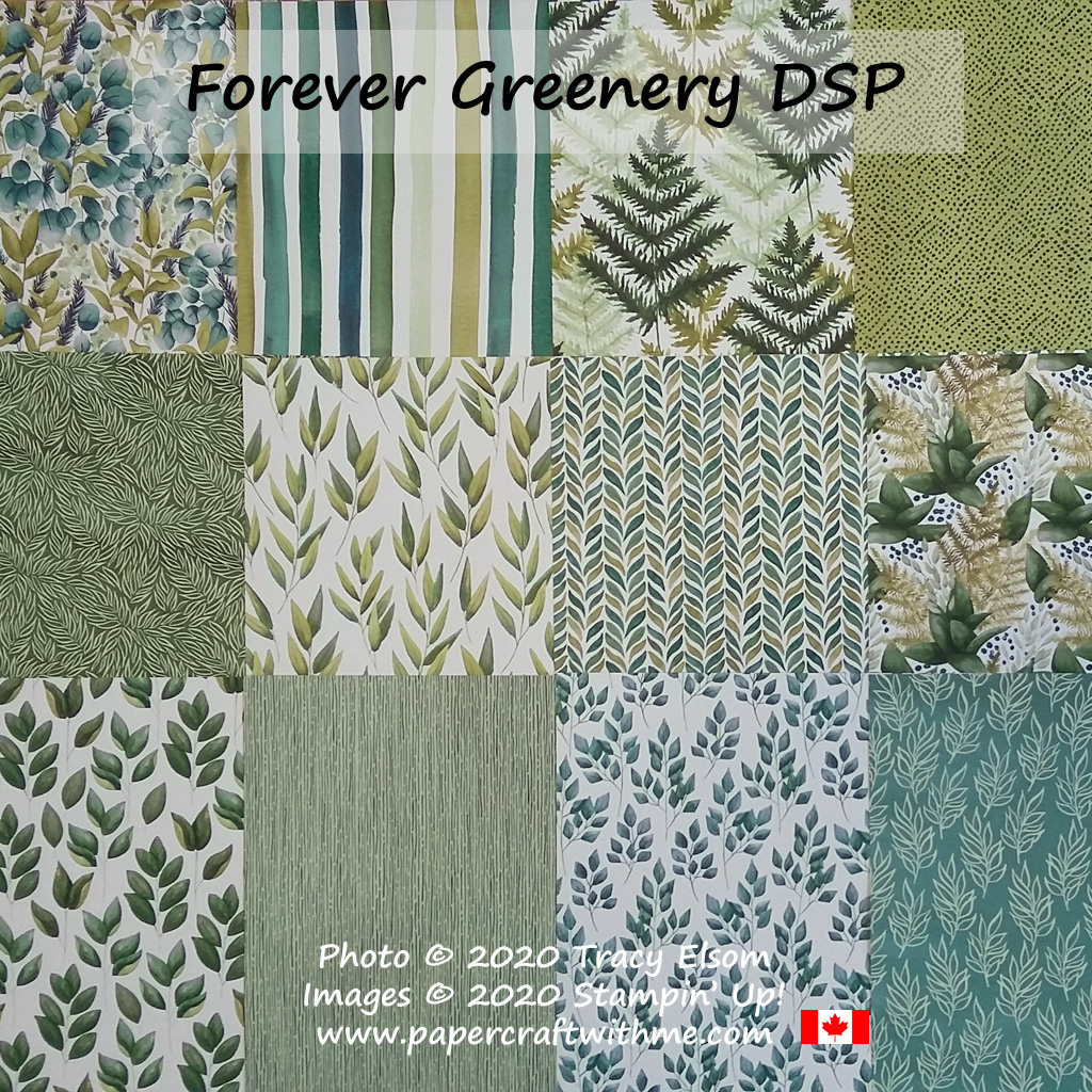 "Forever Greenery 12"" x 12"" Designer Series Paper (DSP) from Stampin' Up! #papercraftwithme"