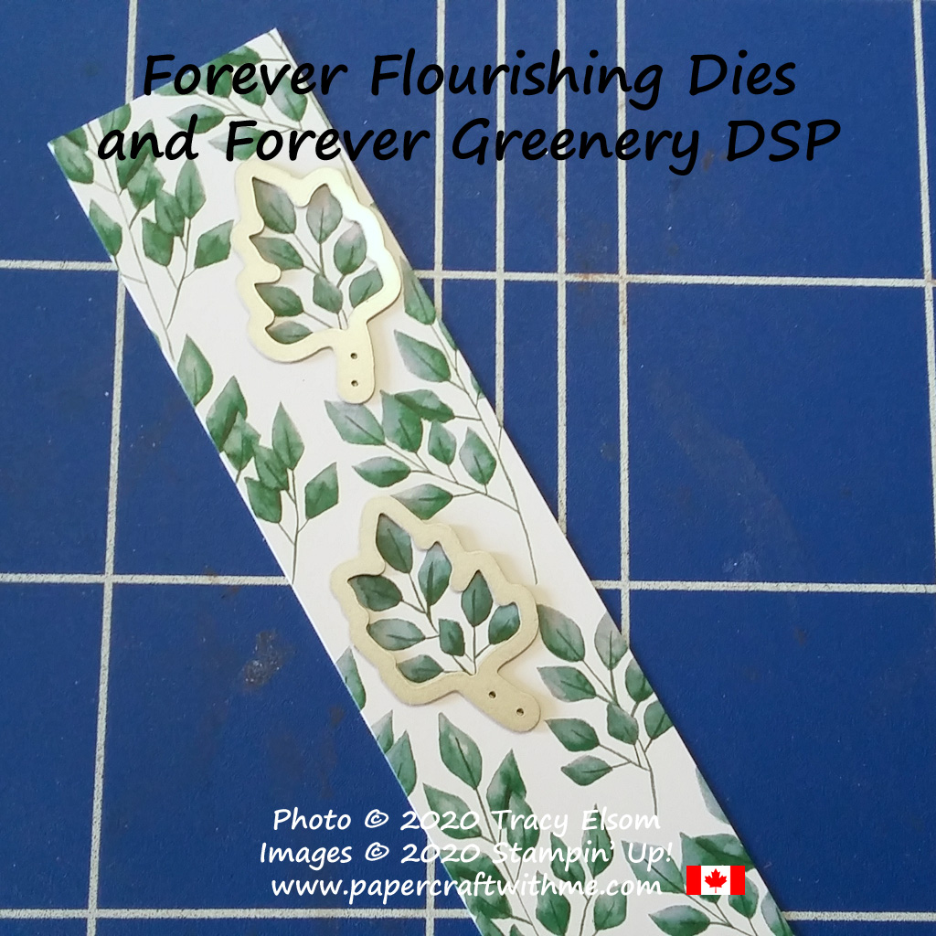 Some of the designs in the Forever Greenery DSP can be cut using the Forever Flourishing Dies from Stampin' Up! #papercraftwithme