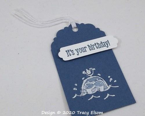 Walrus Birthday Gift Tag