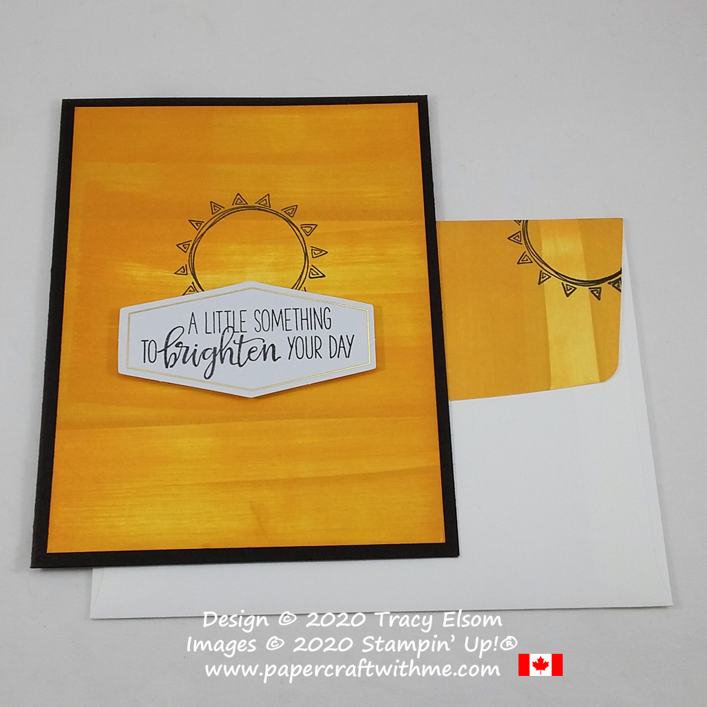 Brighten someone's day with this card created using stamps from the June 2020 Paper Pumpkin kit - Box of Sunshine. #papercraftwithme