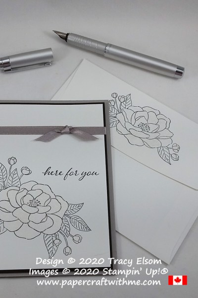 """""""Here for you"""" card created using the So Much Love Stamp Set from Stampin' Up! and simply coloured with a Clear Wink of Stella Glitter Pen. #papercraftwithme"""