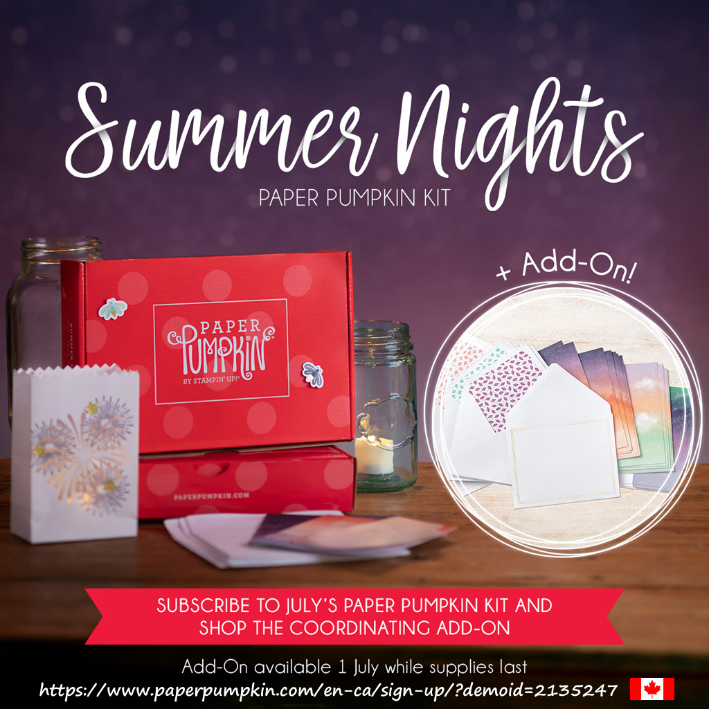 ubscribe to Paper Pumpkin by July 10th to get the Summer Nights kit. #papercraftwithme