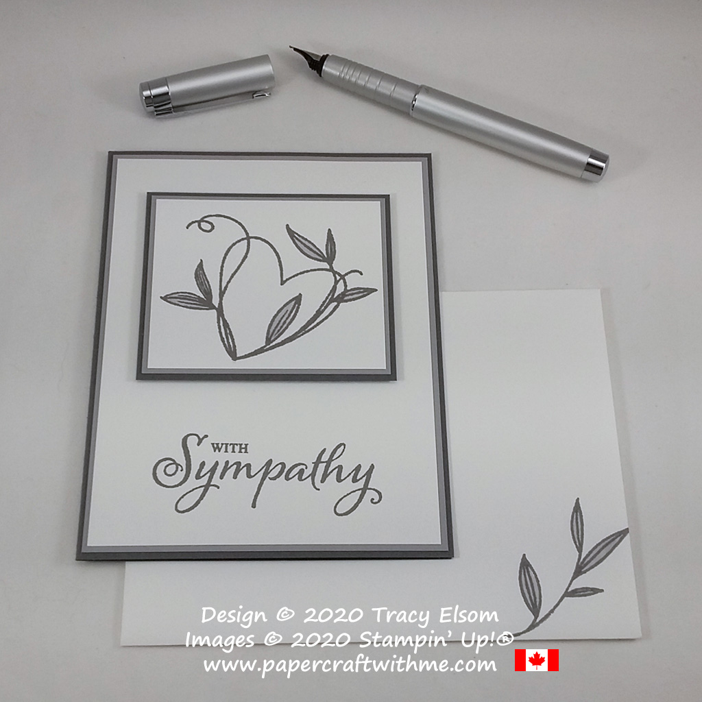 Simple sympathy card created using the Touched My Heart (Host) Stamp Set from Stampin' Up! #simplestamping #papercraftwithme
