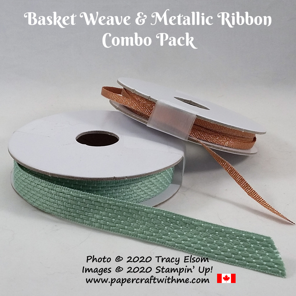 Basket Weave & Metallic Ribbon Combo Pack from Stampin' Up! #papercraftwithme