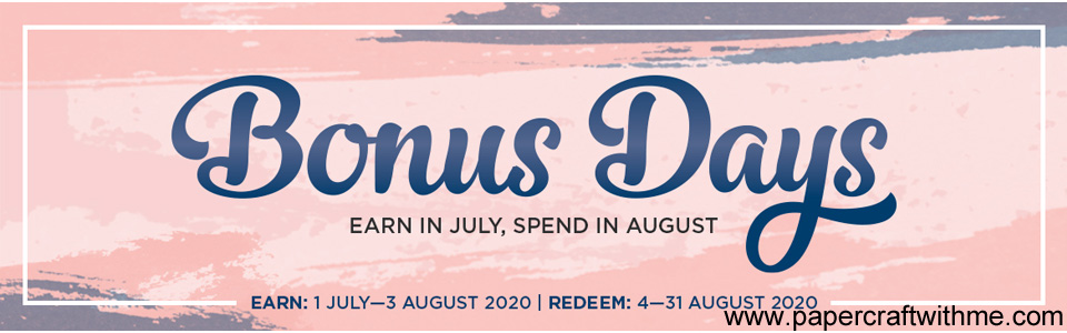 Bonus Days 2020 Earn Spend