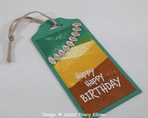 Happy Happy Birthday Gift Tag