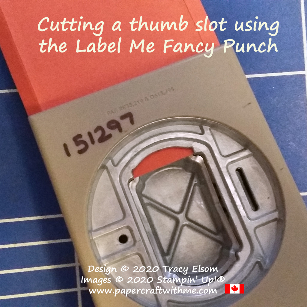 Adding a thumb notch to a gift card holder using the Label Me Fancy Punch from Stampin' Up! #papercraftwithme