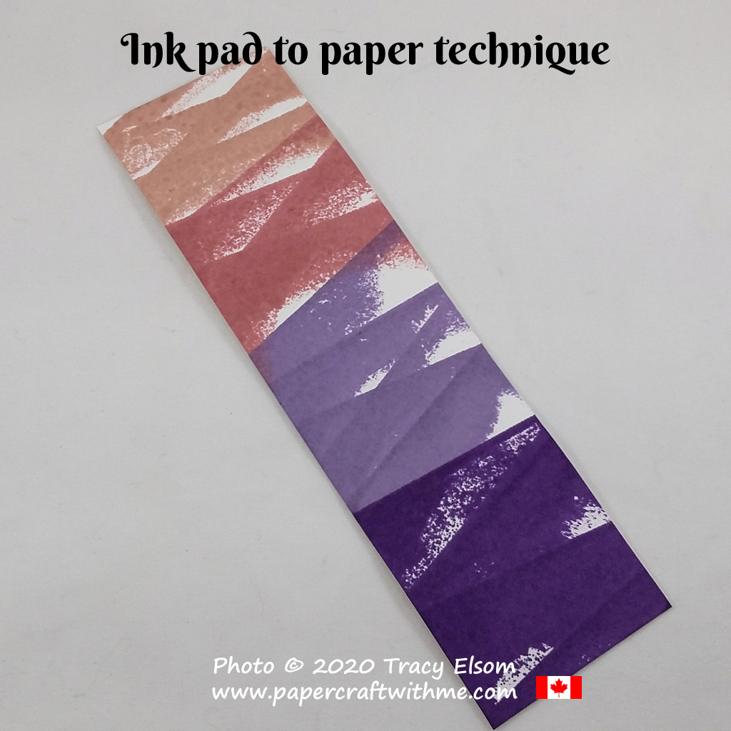 Papercraft 101: Background #2 - Create a simple design by tapping an ink pad onto paper. #papercraftwithme