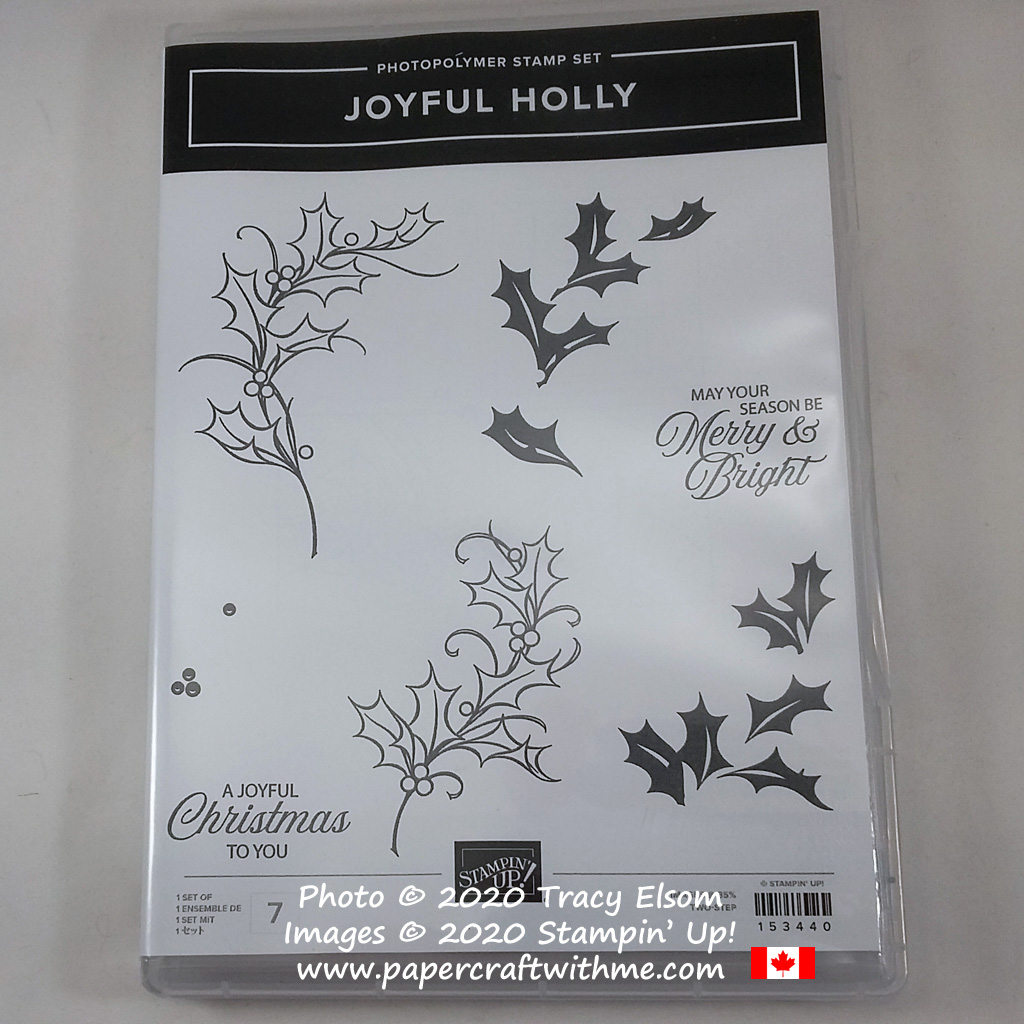 Joyful Holly Stamp Set from Stampin' Up! #papercraftwithme