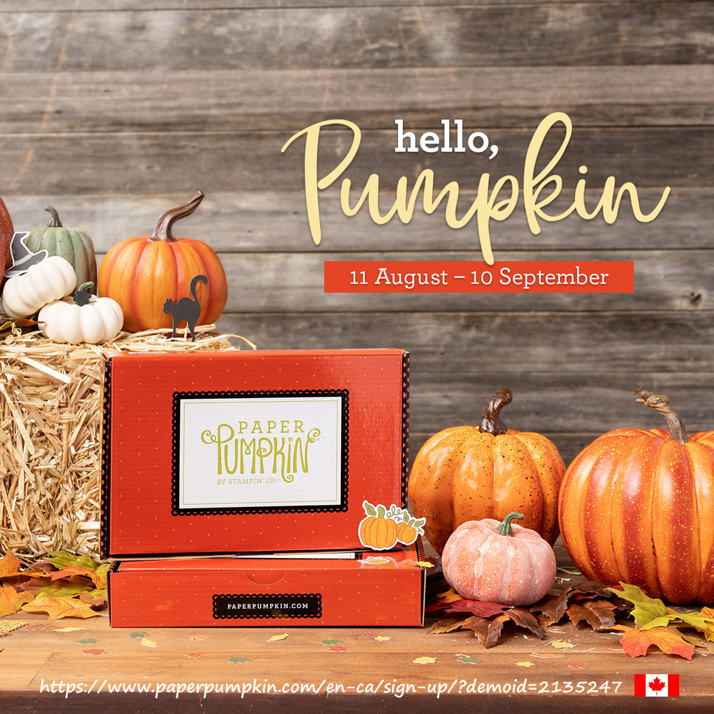 Subscribe for the September 2020 Paper Pumpkin kit to get everything you need to create 20 cracker treat boxes customisable for autumn/thanksgiving or Halloween, you choose. #papercraftwithme