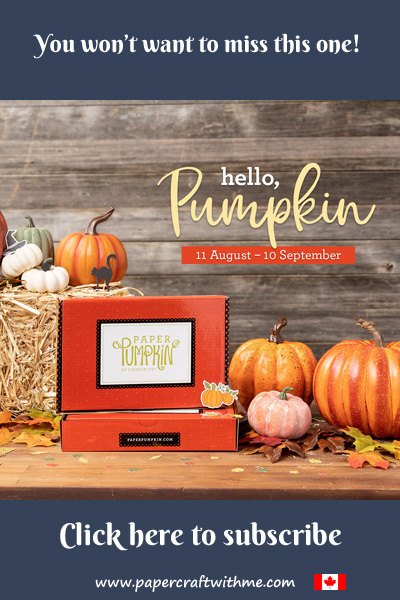 The September Paper Pumpkin kit will contain everything you need to make twenty cracker boxes with an autumn/thanksgiving or halloween theme - you decide!. Subscribe by September 10th 2020 (supplies may be limited towards the end of the subscription period)