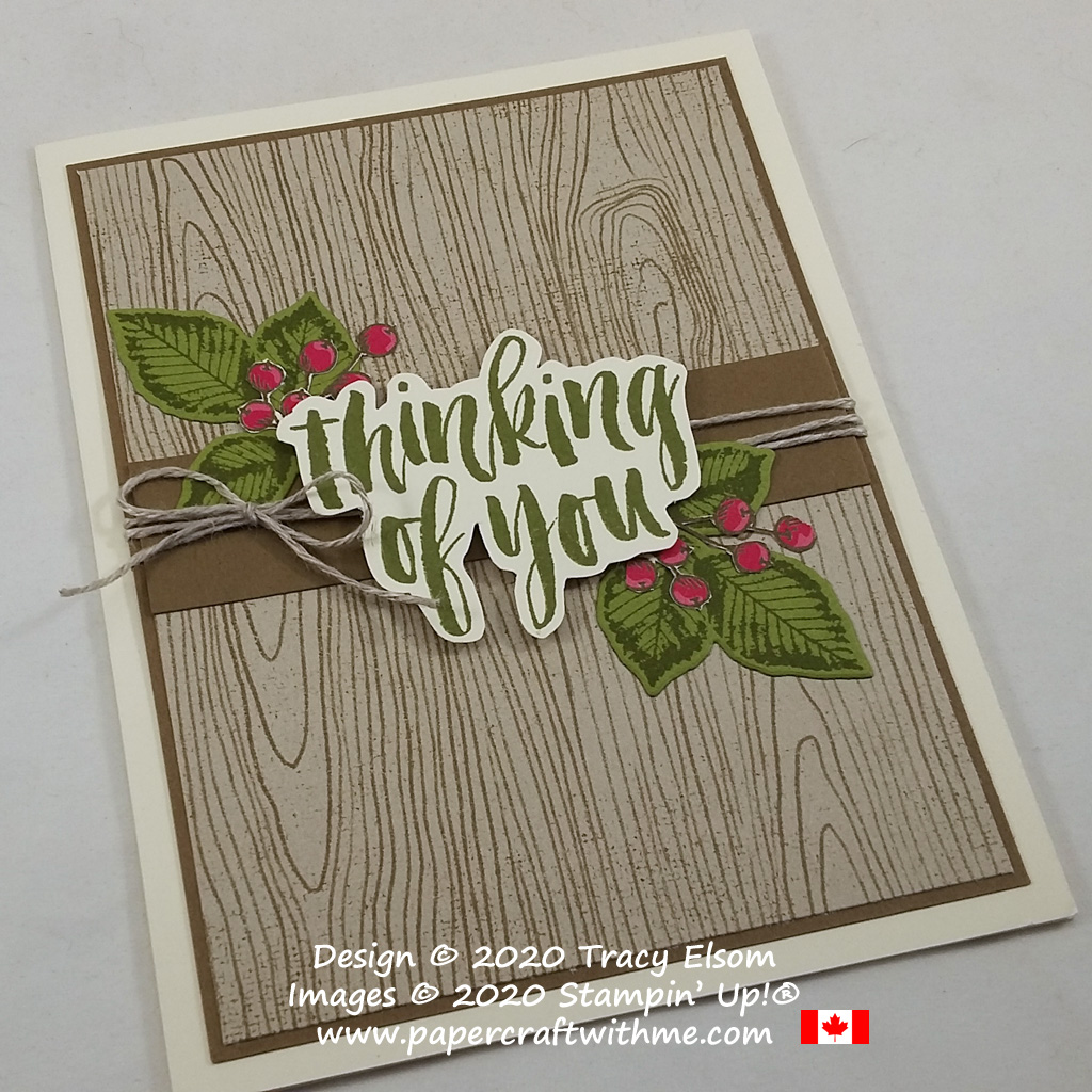 "Autumn-themed ""thinking of you"" card created using the Rooted In Nature Stamp Set and Natures Roots Dies from Stampin' Up! #papercraftwithme"