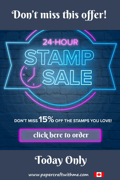 On September 23rd get 15% off selected Stampin' Up! Stamp Sets