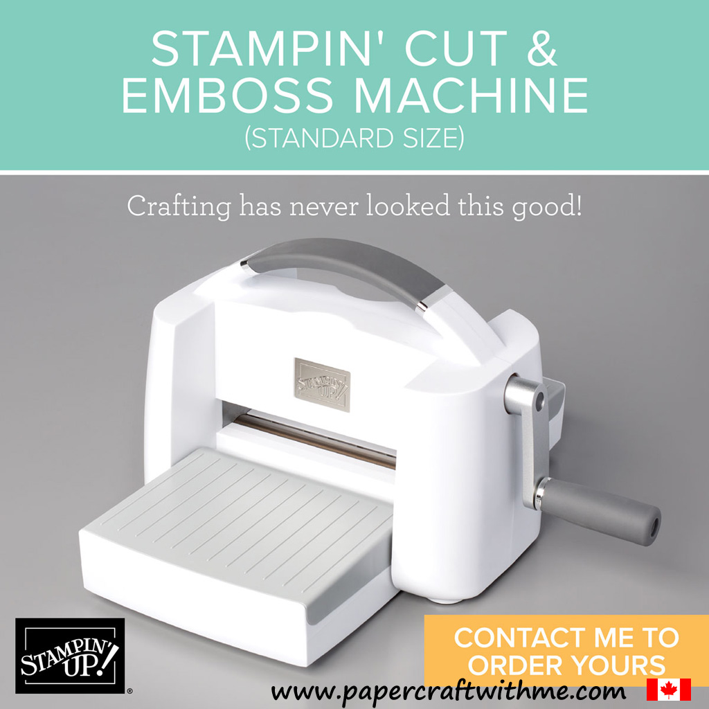 "The new Stampin' Up! Cut & Emboss Machine has a 6"" wide platform for larger dies and full-size embossing folders, but folds up for easy transport and storage when not in use. #papercraftwithme"