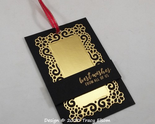 Best Wishes Black & Gold Gift Tag