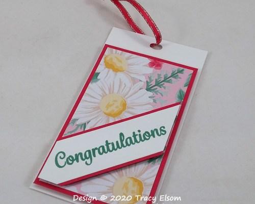 Summer Daisy Congratulations Gift Tag
