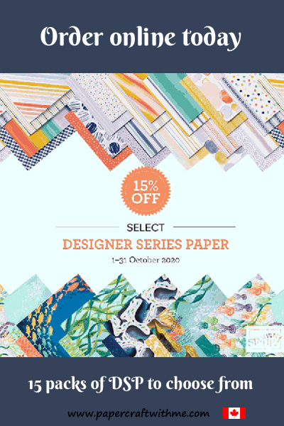 Get 15% off selected packs of patterned paper from Stampin' Up! during October 2020. #papercraftwithme