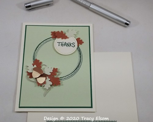 2061 Autumn Leaves Thanks Card