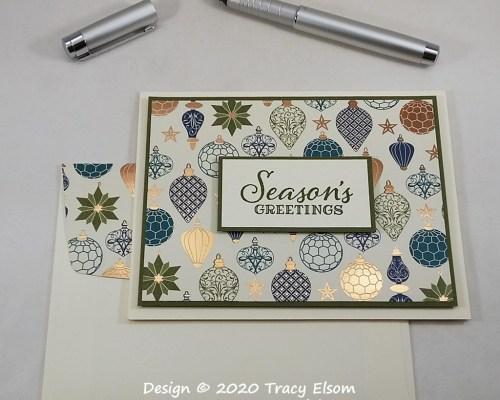 """2083 Gleaming """"Seasons Greetings"""" Card"""