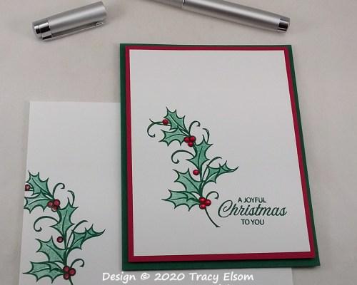2088 Joyful Holly Christmas Card