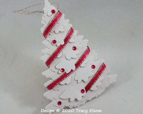 Ribbon & Rhinestone Tree Gift Tag