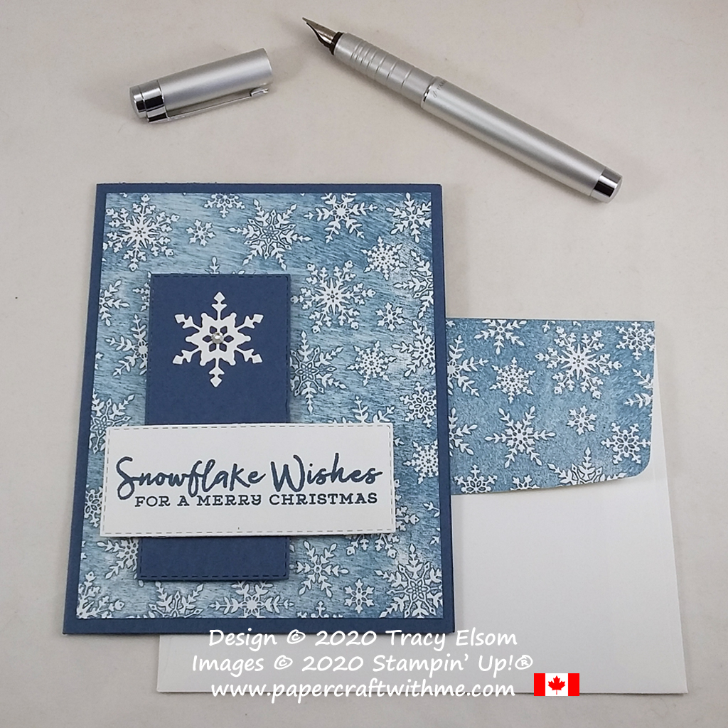 Textured Christmas card created using the Snowflake Wishes Stamp Set, So Many Snowflake Dies and retiring Winter Snow Embossing Folder all from Stampin' Up! #papercraftwithme