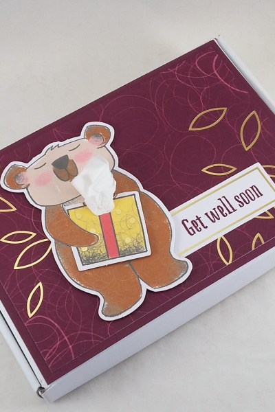 "Get well care package created using a Mini Paper Pumpkin box and pieces from the December 2020 Paper Pumpkin kit ""Beary Comforting"" from Stampin' Up! #papercraftwithme"