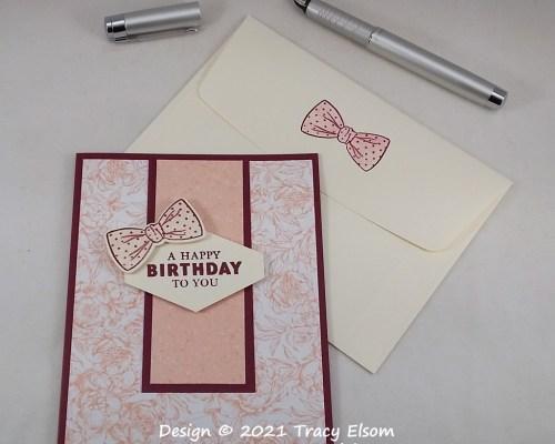 2116 Pretty Pink Bow (tie) Birthday Card