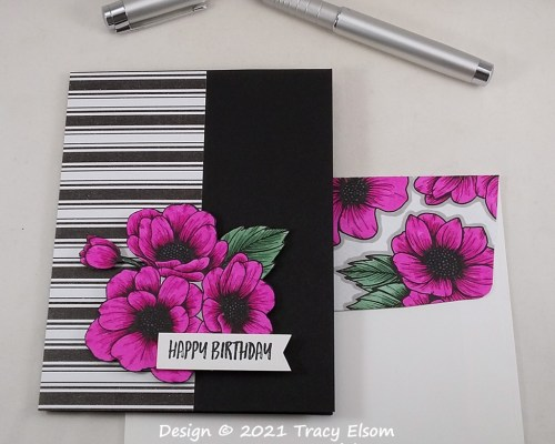 2118 Magenta Floral Birthday Card