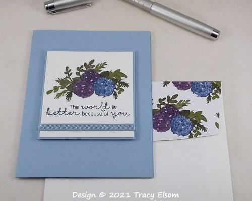 2148 Better World Hydrangea Card