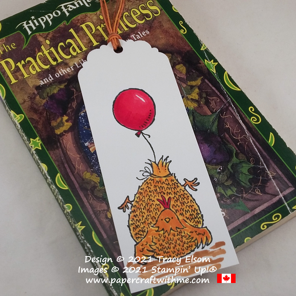 Fun chicken bookmark created using the Hey Birthday Chick Stamp Set from Stampin' Up! #papercraftwithme