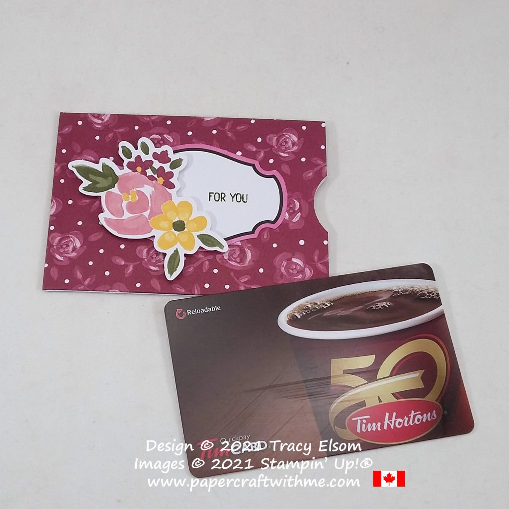 """""""For you"""" alternate gift card holder design using the February 2021 Paper Pumpkin kit """"Bouquet of Hope"""".#papercraftwithme"""