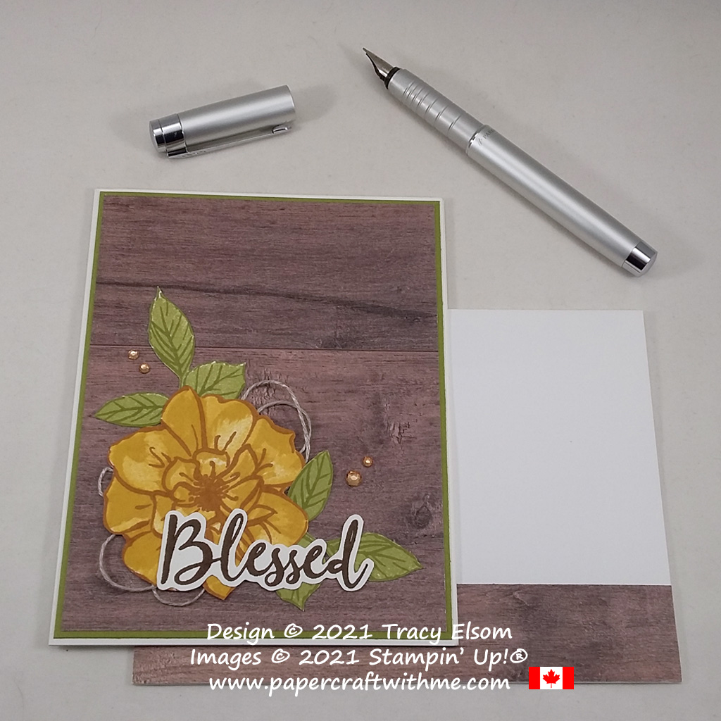 """""""Blessed"""" card created using the To A Wild Rose Stamp Set from Stampin' Up! #papercraftwithme"""