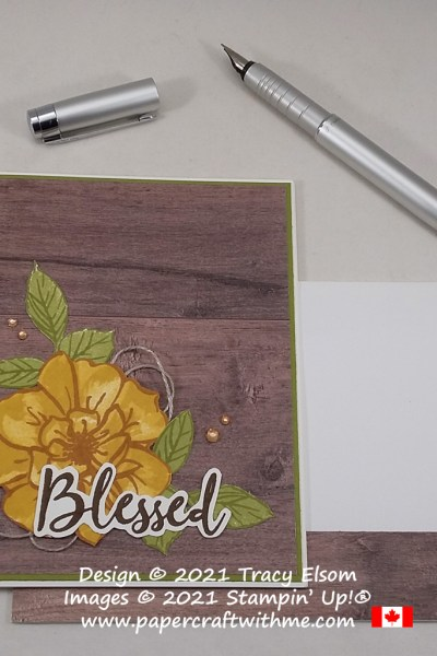 """Blessed"" card created using the To A Wild Rose Stamp Set from Stampin' Up! #papercraftwithme"