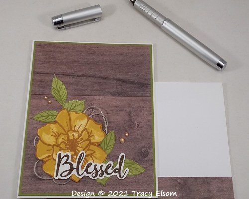 2187 Blessed Rose Card
