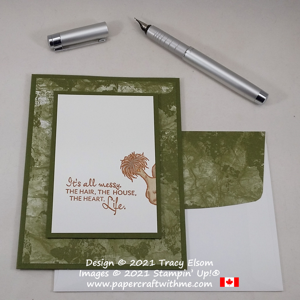 This #simplestamping card is all about life and was created using the Here's A Card and Hey Chick Stamp Sets from Stampin' Up! #paperctaftwithme