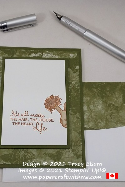This #simplestamping card is all about life and was created using the Here's A Card and Hey Chick Stamp Sets from Stampin' Up! #papercraftwithme