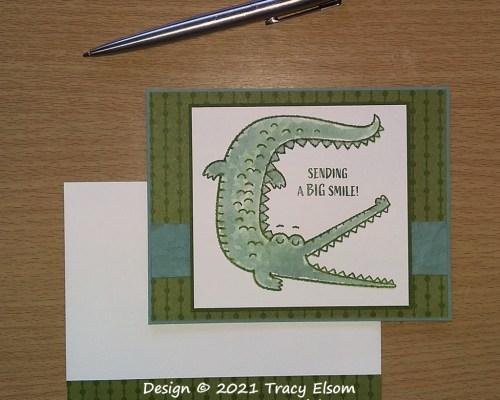 2197 Crocodile Sending A Big Smile Card