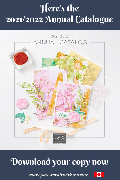 Link to the English Canadian version of the Stampin' Up! 2021/2221 Annual Catalogue